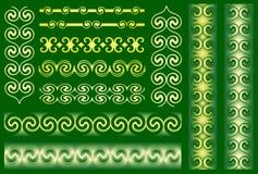 Ornements métalliques illustration de vecteur