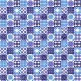 Ornements marocains de tuiles dans des couleurs bleues et blanches Photos stock