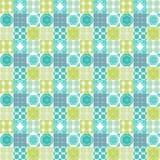 Ornements marocains de tuiles dans les couleurs blanches et vertes Image stock