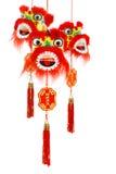 Ornements principaux de lion chinois d'an neuf Image stock