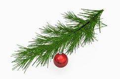 Ornements rouges de billes de Noël Images libres de droits