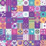 Ornements sans couture de modèle de patchwork Peut être utilisé pour le papier peint, motifs de remplissage, fond de page Web, te photographie stock libre de droits