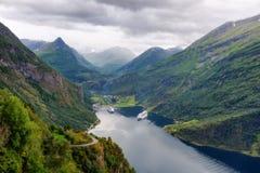 Ornesvingen-αετός Geiranger Νορβηγία Στοκ φωτογραφίες με δικαίωμα ελεύθερης χρήσης