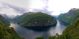 Ornesvingen-αετός Geiranger Νορβηγία Στοκ φωτογραφία με δικαίωμα ελεύθερης χρήσης