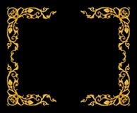 Orni gli elementi, progettazioni floreali della struttura d'annata dell'oro Fotografia Stock Libera da Diritti