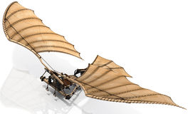 Ornithopter Flying Machine  Leonardo Da Vinci. The classic Leonardo Da Vinci flying machine, otherwise known as an ornithopter. Let your dreams take flight! Give Royalty Free Stock Photo