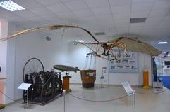 Ornithopter V Tatlintentoonstelling in het Luchtmachtmuseum in Monino Rusland Stock Afbeeldingen