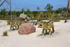 Ornithosuchus. Modelo del dinosaurio. Foto de archivo