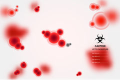 Orno-gird. Vector background with red fictitious molecules in bloody style Royalty Free Stock Photography