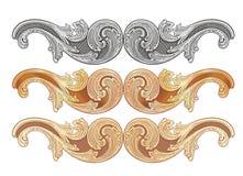 Oro 1 de los Cartouches stock de ilustración