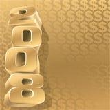 Oro 2008 dólares Fotografía de archivo libre de regalías