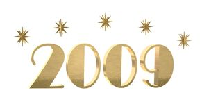 Oro 2009 con las estrellas libre illustration