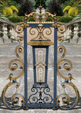Oro 3 que cercan con barandilla Imagen de archivo