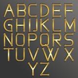 Oro abstracto del alfabeto Fotografía de archivo libre de regalías