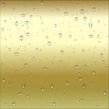 Oro abstracto del metal marrón y amarillo, backgr de bronce de la pendiente Fotos de archivo libres de regalías