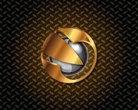 Oro abstracto Logo Vector Imagen de archivo