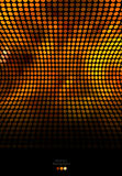 Oro abstracto y fondo negro del mosaico Fotos de archivo