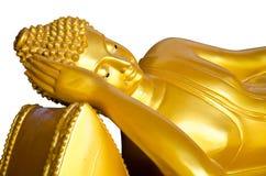Oro adagiantesi del Buddha Fotografie Stock Libere da Diritti