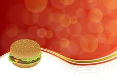 Oro amarillo rojo del fondo de la hamburguesa abstracta de la comida Fotografía de archivo