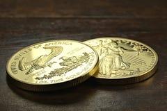 Oro americano Eagle Immagini Stock Libere da Diritti