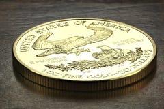 Oro americano Eagle Fotografie Stock Libere da Diritti