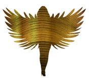 Oro Angel Silhouette Fotografia Stock