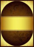 Oro astratto e fondo floreale di Brown Fotografie Stock
