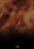 Oro astratto e fondo nero del mosaico Fotografie Stock