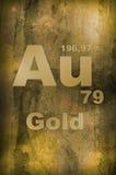 Oro (Aurum) Fotografia Stock Libera da Diritti