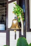 Oro Bell en el ferrocarril Fotos de archivo