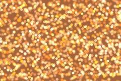 Oro Bokeh Fotografie Stock Libere da Diritti