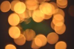 Oro Bokeh Fotografía de archivo libre de regalías