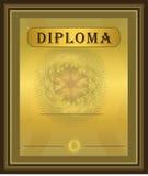 Oro Brown del diploma Foto de archivo libre de regalías
