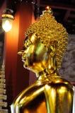 Oro Buda Foto de archivo libre de regalías