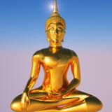 Oro Buddha royalty illustrazione gratis