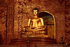 Oro Buddha fotografie stock libere da diritti