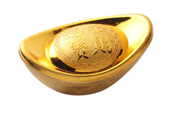 Oro cinese Immagini Stock