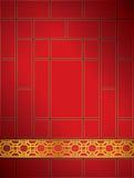 Oro cinese di colore rosso del reticolo della grata della priorità bassa. Fotografia Stock