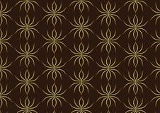 Oro classico Ant Pattern sul fondo di Brown Fotografia Stock Libera da Diritti