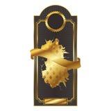 Oro classico della crepa del contrassegno di promozione dell'etichetta Immagine Stock Libera da Diritti