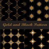 Oro classico e modello nero Immagine Stock Libera da Diritti