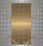 oro con la vendimia del platino Imagenes de archivo