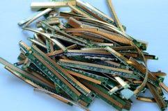Oro cortado RAM Fingers fotos de archivo libres de regalías