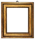 Oro cubico della cornice (percorso incluso) Immagine Stock