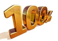 oro 3d muestra del descuento del 100 cientos por ciento Imagen de archivo