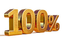 oro 3d muestra del descuento del 100 cientos por ciento Imagenes de archivo