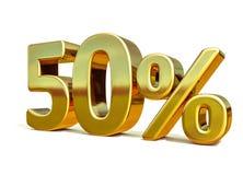 oro 3d muestra del 50 por ciento stock de ilustración