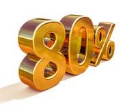 oro 3d segno di sconto di 80 ottanta per cento Immagini Stock