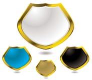 Oro de cristal del blindaje Imagen de archivo