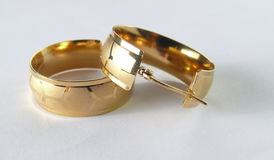 Oro de Earings imagen de archivo libre de regalías